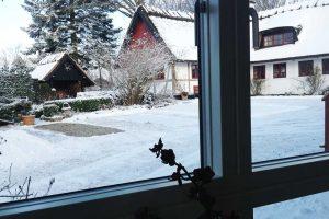 Vinterudsigt fra et af værelserne